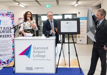 Pioneering airport college celebrates official opening at London Stansted