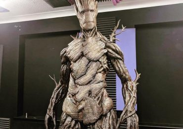 Groot sculpture raffled to help hospice